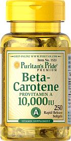 beta caroten vitamina a 10 000 IU